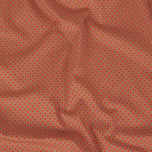 Mood Exclusive Burnt Orange Cylindrically Angled Stretch Cotton and Viscose Woven