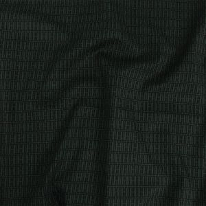 Mood Exclusive Hunter Green Geometric Pillars Stretch Cotton and Viscose Woven