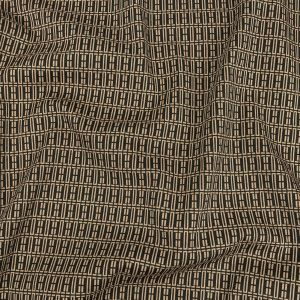 Mood Exclusive Beige Geometric Pillars Stretch Cotton and Viscose Woven