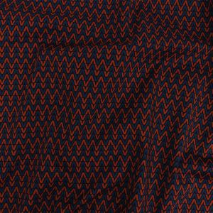 Mood Exclusive Red and Navy V for Visionary Stretch Cotton and Viscose Woven