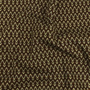 Mood Exclusive Brown V for Visionary Stretch Cotton and Viscose Woven