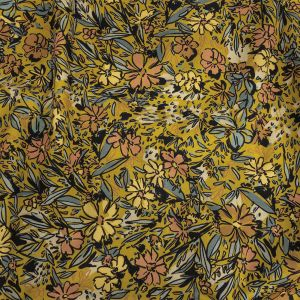 Mood Exclusive Mustard Undergrowth Expressions Stretch Brushed Cotton