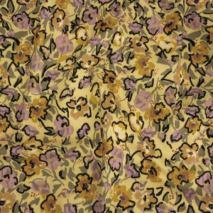 Mood Exclusive Mellow Yellow Merry Marigolds Stretch Brushed Cotton