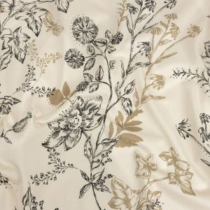 Mood Exclusive Pale Beige Curious Consideration Stretch Cotton Sateen