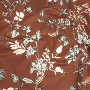 Mood Exclusive Brown Curious Consideration Stretch Cotton Sateen