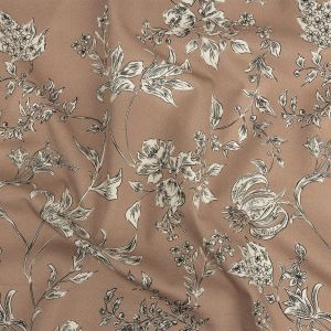 Mood Exclusive Tan Organic Delineation Stretch Cotton Sateen