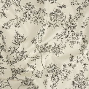 Mood Exclusive Ivory Organic Delineation Stretch Cotton Sateen