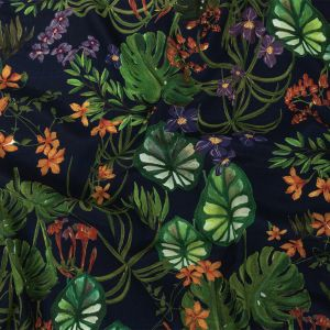 Mood Exclusive Navy Lily Pad Paradise Sustainable Viscose Woven