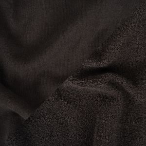 Black Cotton French Terry