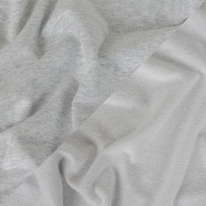 Heathered Light Gray and White Cotton French Terry