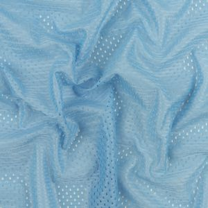 Heracles Sky Blue Polyester Athletic Mesh