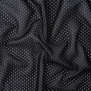 Heracles Black Polyester Athletic Mesh