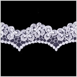 2 White Corded Lace