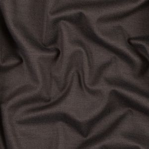 Brown Brushed Stretch Wool Twill