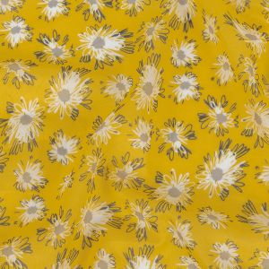 Solar Energy, Gray and White Floral Cotton Voile