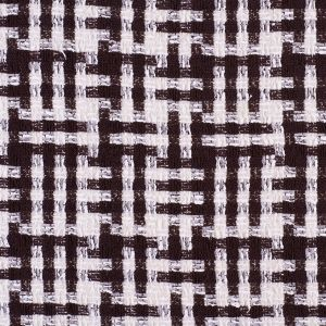 Famous NYC Designer Dark Brown and White Novelty Yarns Tweed
