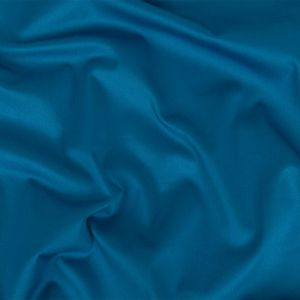 French Blue Stretch Cotton Sateen