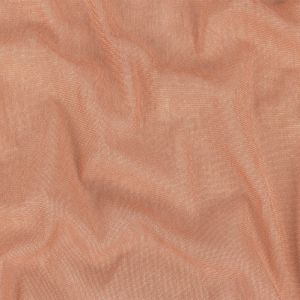 Coral and White Heathered Sheer Polyester and Cotton Warp Knit