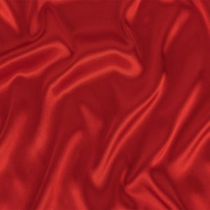 Ruby Red Polyester Satin