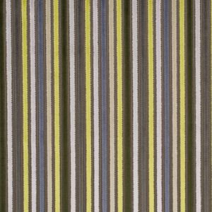 Multicolor Green and Brown Striped Velvet