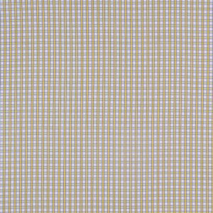 Yellow, Blue and White Checked Cotton Shirting
