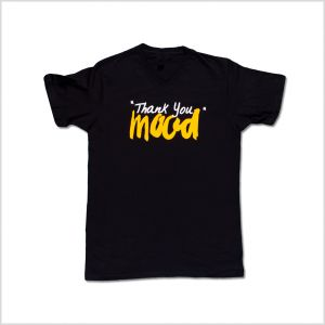 Black and Gold Thank You Mood T-Shirt