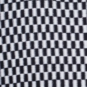 Black and White Checkerboard Wool-Blend Knit