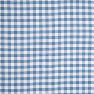 Celestial Blue and White Checked Lightweight Cotton Shirting