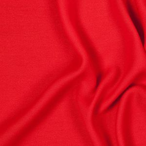 Red Lightweight Polyester Crepe