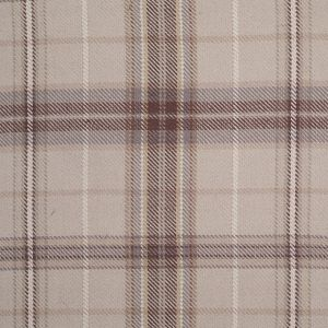Sea Glass Blue, Pale Green and Brown Plaid Handwoven Cotton