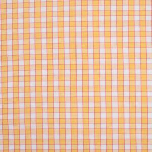 Citrus Yellow and Cotton Candy Pink Checked Handwoven Cotton