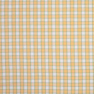 Citrus Yellow and Green Checked Handwoven Cotton