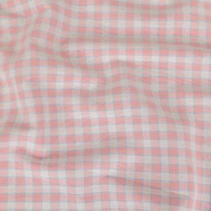 Baby Pink and Blue Checked Handwoven Cotton