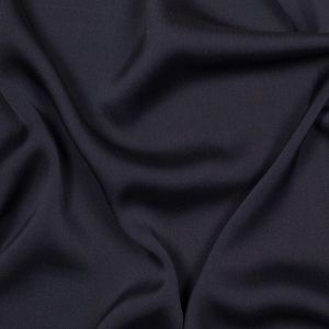 Theory Washed Navy Silk Stretch Georgette