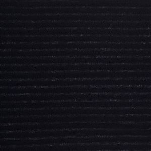 Black Ribbed Knit Cotton-Polyester Boucle