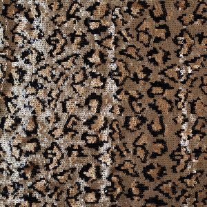 Leopard Print Inspired Sequined Polyester