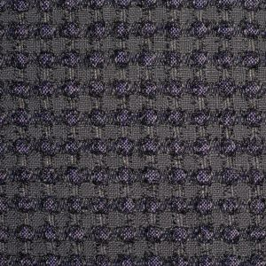 Famous NYC Designer Metallic Gray/Pink Cotton-Blended Woven