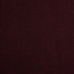 Black/Red Cotton-Polyester Woven