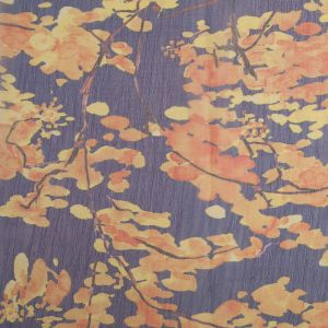 Famous Designer Navy Floral Polyester Chiffon