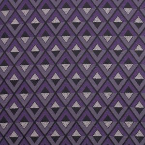 Purple Geometric Stretch Polyester Suiting