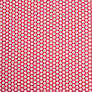 Red Polka Dotted Cotton Voile