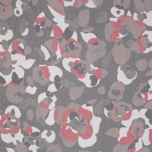 Marc Jacobs Brown/Red Abstract Crinkled Silk Chiffon