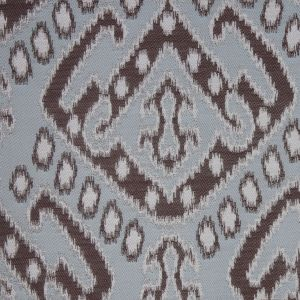 Ice Blue Damask Polyester Woven