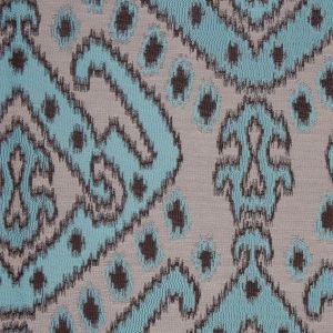 Turquoise Damask Polyester Woven