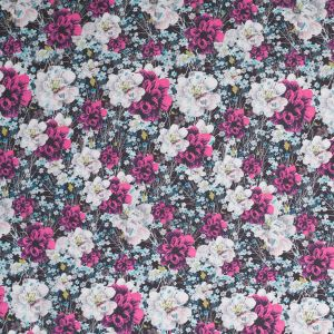 Field of Flowers Digitally Printed Polyester Charmeuse