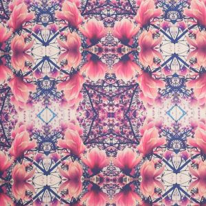Floral Kaleidoscope Digitally Printed Polyester Charmeuse