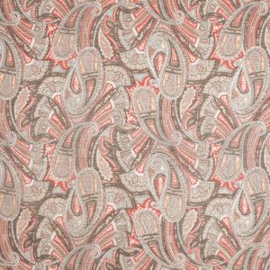 Liberty of London Sandalwood Olive/Red Silk-Cotton Voile