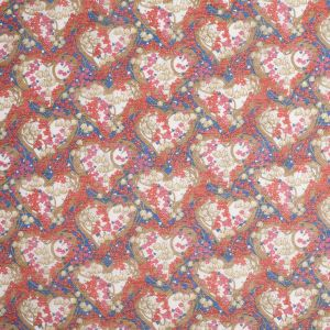 Liberty of London Amy Jane Blue/Red Silk-Cotton Voile