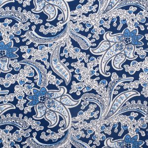 Starry Night Paisley Stretch Flannelled Cotton Twill