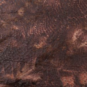 Brown Knitted Faux Fur with Reptillain Laminate